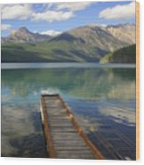 Kintla Lake Dock Wood Print