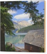 Kintla Lake Ranger Station Glacier National Park Wood Print