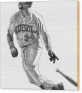 Kirby Puckett Wood Print by Harry West