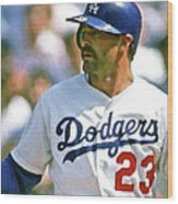 Kirk Gibson, Los Angeles Dodgers Wood Print