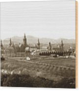 Kirkbride At Napa State Hospital In California Circa 1890 Wood Print