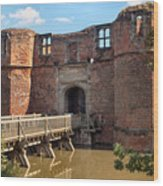 Kirkby Muxloe Castle Wood Print