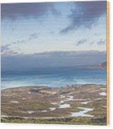Kirkjufell And Grundarfjordur From On High Wood Print