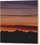 Kirkland At Sunset Wood Print by Barbara Norfleet