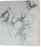 Kiss Of Love Wood Print