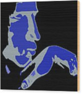 Kiss Of The Blues Wood Print