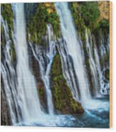 Kiss Of Water Wood Print