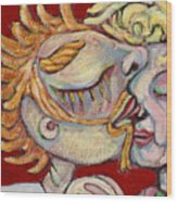 Kiss On The Nose Wood Print
