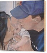 Kisses For Baby Wood Print by Terri Thompson