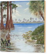 Kissimee River Shore Wood Print