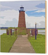 Kissimmee Lighthouse Wood Print