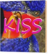 Kissing Birds Spca Wood Print