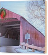 Kissing Bridge Wood Print