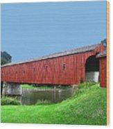 Kissing Bridge Of West Montrose Wood Print