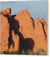 Kissing Camels Formation At Garden Of The Gods Wood Print