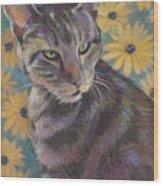 Kit Cat Wood Print