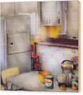 Kitchen - A 1960's Kitchen  Wood Print