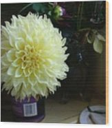 Kitchen Dahlia Wood Print