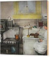Kitchen - How I Bake Bread 1923 Wood Print