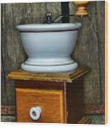 Kitchen - Retro Coffee Maker Wood Print