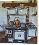 Kitchen - The Vintage Stove Wood Print