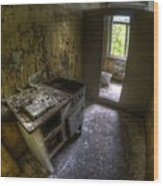 Kitchen With A Loo Wood Print