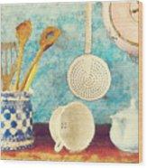 Kitchenware Wood Print