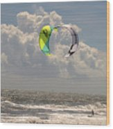 Kite Boarding Buxton Obx  Wood Print