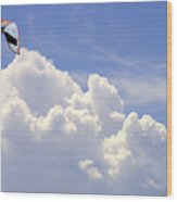 Kite In The Clouds Obx Buxton North Carolina Wood Print