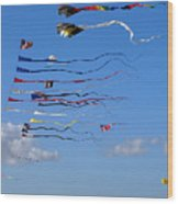 Kite Season Wood Print