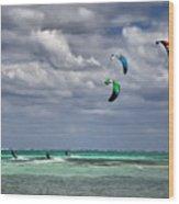 Kite Sufers Three Wood Print