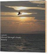 Kite Sunset - Haiku Wood Print