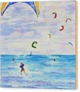 Kite Surfer Wood Print