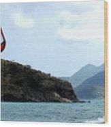 Kite Surfer St Kitts Wood Print