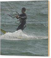 Kite Surfing 11 Wood Print