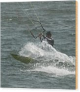 Kite Surfing 21 Wood Print