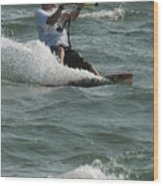 Kite Surfing 3 Wood Print