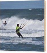 Kite Surfing Wood Print