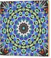 Kite Tiles Mandala Wood Print