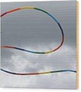 Kites And Clouds Wood Print