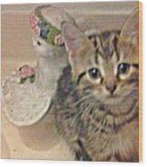 Kitten Love Wood Print