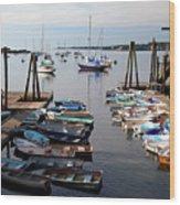 Kittery Point Fishing Boats Wood Print