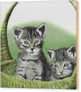 Kitty Caddy Wood Print