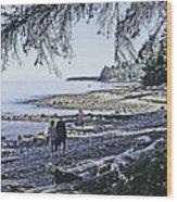 Kitty Colemans Beach - Bc Wood Print