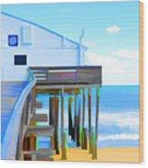 Kitty Hawk Pier 2 Wood Print