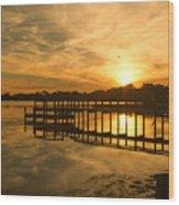 Kitty Hawk Sunset 2 Wood Print