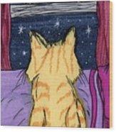Kitty Loaf Wood Print
