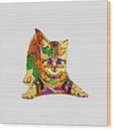 Kitty Love. Pet Series Wood Print