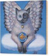 Kitty Yin Yang- Cat Angel Wood Print