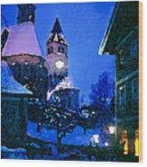 Kitzbuhl At Night-4 Wood Print